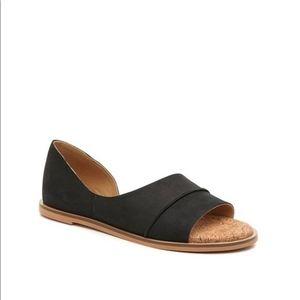 Lucky Brand slip on leather black Fentin 2 sandals